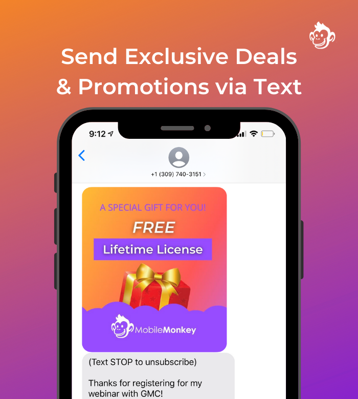 text marketing for agencies - exclusive deals and offers