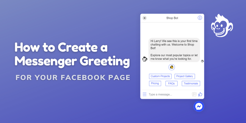 Facebook Messenger Greeting