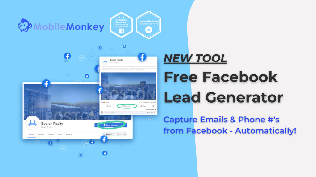 web chat for agencies Free Facebook lead generator