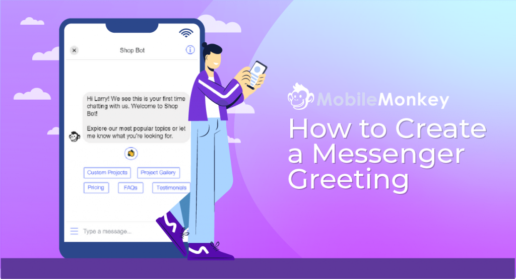 how to create a messenger greeting
