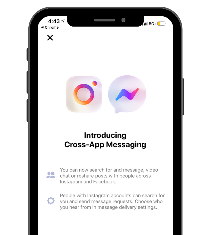 Instagram introduces cross-app messaging with Facebook Messenger