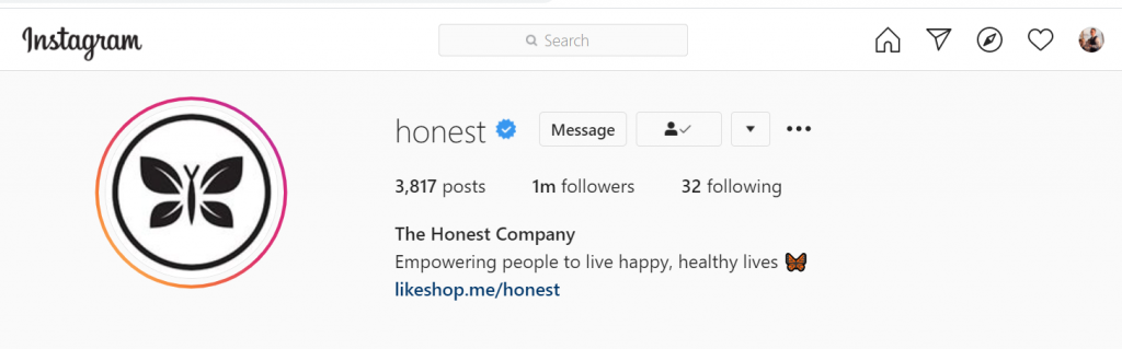 best Instagram business accounts: The Honest Company