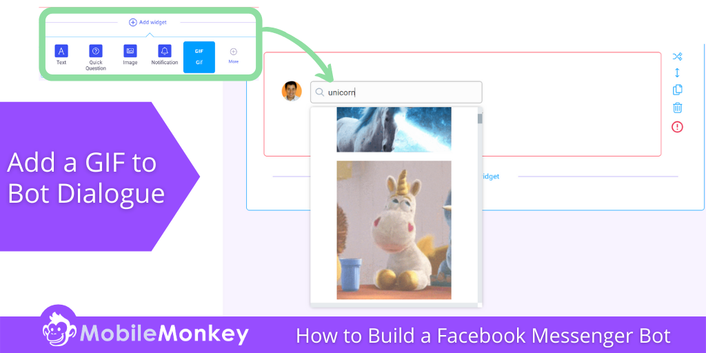 how to build a Facebook Messenger bot with GIFs Images Videos Text