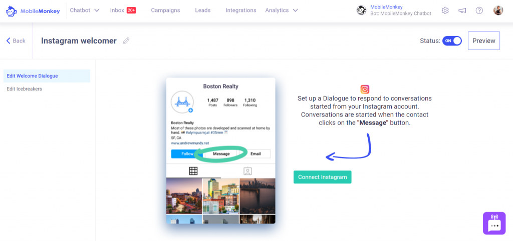 Instagram Tools: Automated Welcome Message