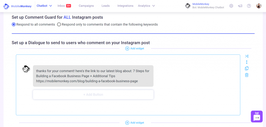 Instagram Tools: Comment Bot