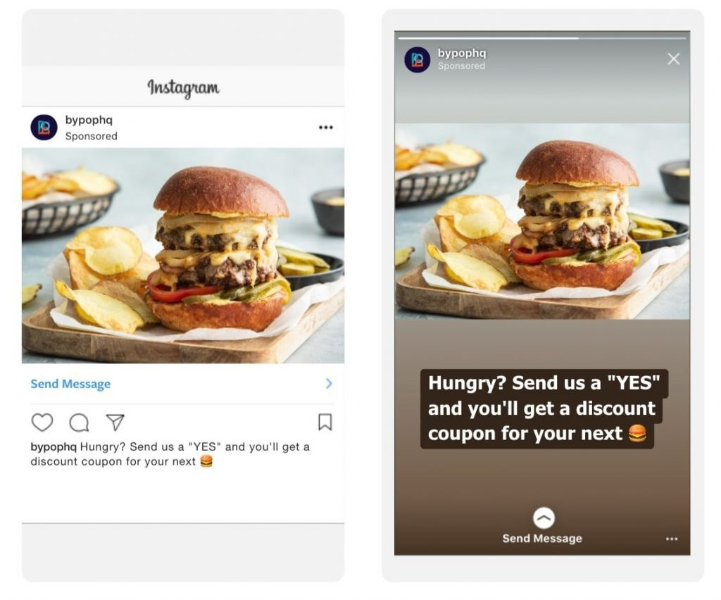 Click to Instagram Direct Message Ad Example 2