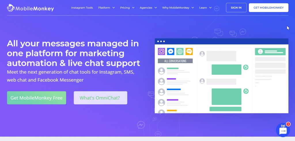 how to create a chatbot with MobileMonkey