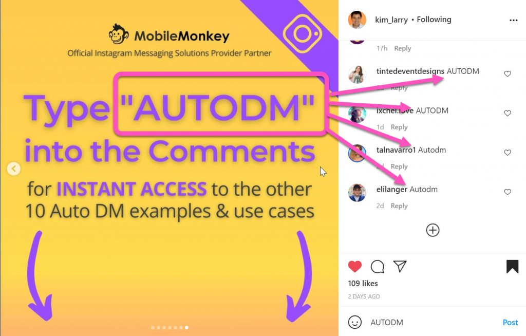 how to increase Instagram reach: Comment Auto-Responders
