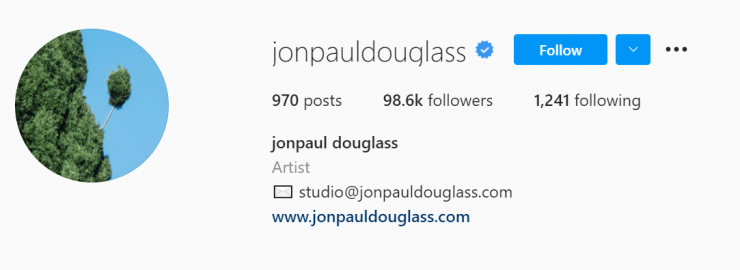 Jonpaul Douglass sells his photography with his Instagram account